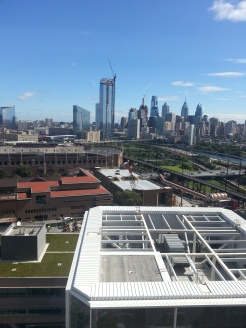 View of Downtown Philadelphia from the lab